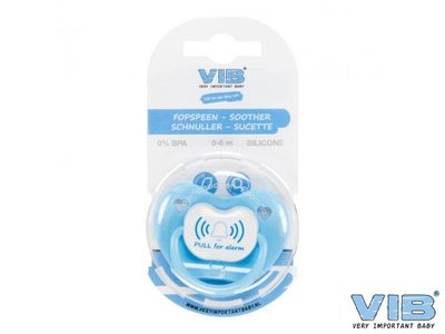 VIB speentje Pull for Alarm blauw