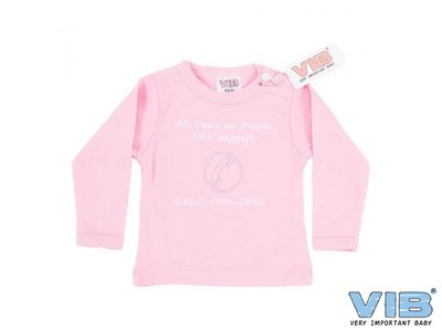 VIB Tshirt Als papa en mama nee zeggen 0800 opa oma Roze 3mnd