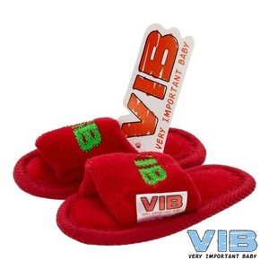 VIB Baby Slippers kerst editie Rood