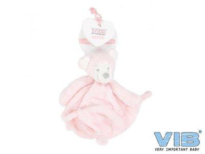 VIB pluche tutteldoekje Very Important Monkey (roze)