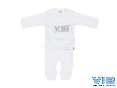 VIB 2-DELIG SETJE (OVERSLAG T-SHIRT+BROEKJE) VIB Wit
